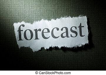 Headline Forecast, concept of Forecast
