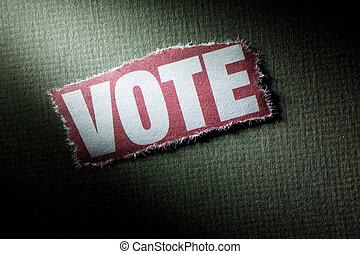 Vote - Headline Vote, concept of vote