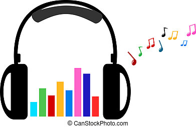 headphone and colorful volume