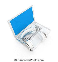 Headphone and Laptop