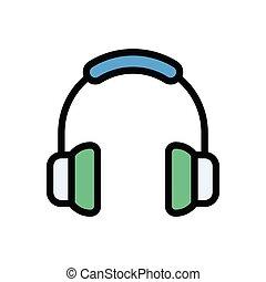 headphone flat color icon