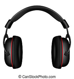 Headphone on a white background. Vector illustration.