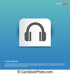 Headphone icon - Blue Sticker button