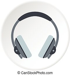 Headphone icon circle