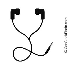 headphone icon design, vector illustration eps10 graphic