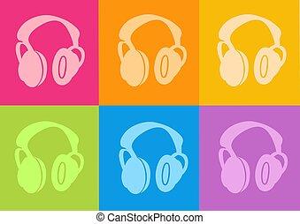 headphone icon - 3d headphone icon - computer generated...
