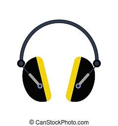 Headphone icon, earphone icon vector illustration.