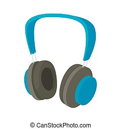 Headphone icon in cartoon style