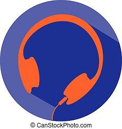 headphone icon vector eps 10