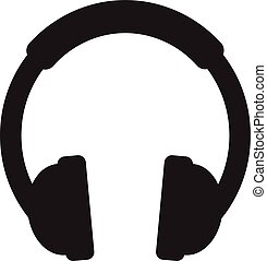 Headphone Icon Vector. Headphone sign isolated on white background