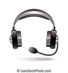 Headphone icon with shadow