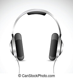 Headphone - illustration of headphone kept on isolated...