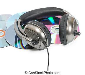 headphone in CD stack