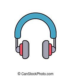 headphone line flat icon