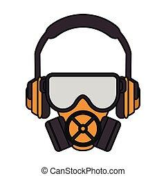 Headphone mask and glasses design
