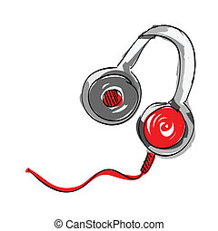 Headphone on white background