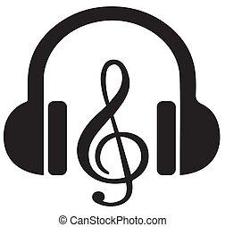 Headphone silhouette