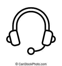 Headphone thin line icon