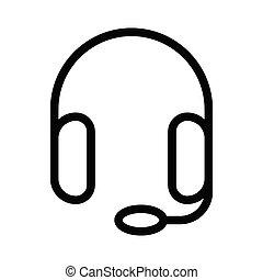 headphone thin line vector icon