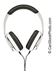 headphones., aislado, blanco, plano de fondo