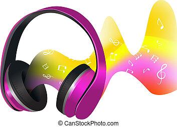 Headphones and soundwaves
