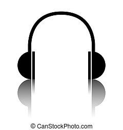 Headphones black icon
