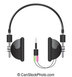 Headphones black illustration