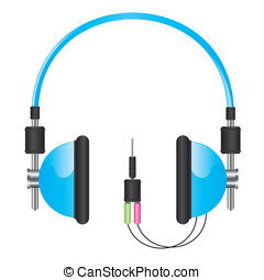 Headphones blue illustration