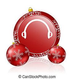headphones christmas icon