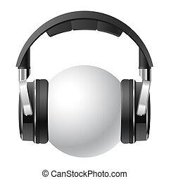 Headphones - Vector illustration of a headphones