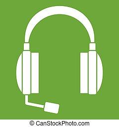 Headphones icon green