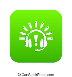 Headphones icon green