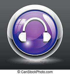 Headphones Icon Internet Button