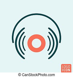 Headphones icon isolated