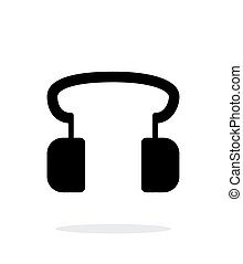 Headphones icon on white background.