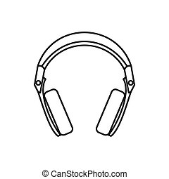 Headphones icon, outline style