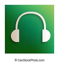 Headphones icon with shadow