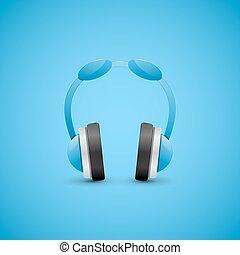 Headphones Illustration, Graphic Concept