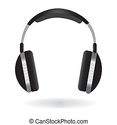 Headphones Illustration - Image of headphones isolated on a...