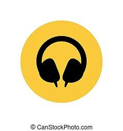Headphones illustration silhouette
