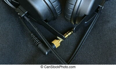 headphones jack audio connector device close up