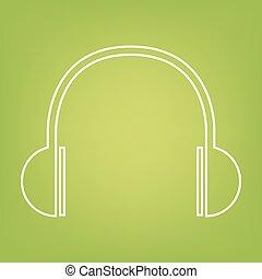 Headphones line icon