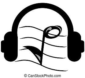 headphones listening to music