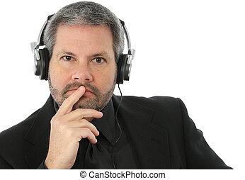headphones, man