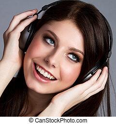 Headphones Music Girl