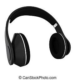 Headphones of carbon material