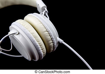 Headphones on a Black Background