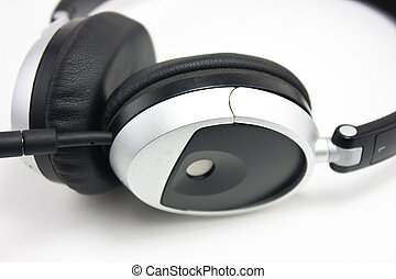 headphones on white