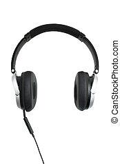 headphones oon white - modern style headphones shot on a...