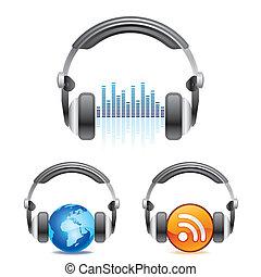 headphones, pictogram